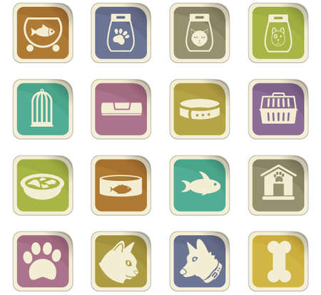 forage fish: goods for pets vector icons for user interface design