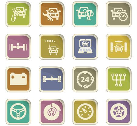 laptop repair: car service vector icons for user interface design