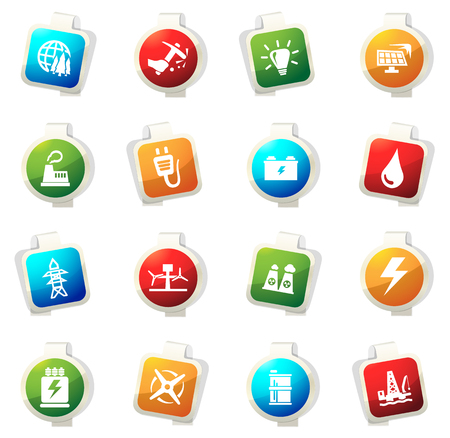 Alternative energy color icon for web sites and user interfaces Illustration