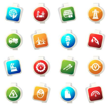 icona alternativa di colore di energia per i siti web e interfacce utente