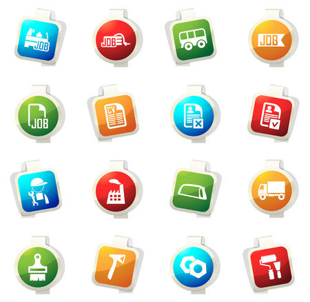Job color icon for web sites and user interfaces Illustration