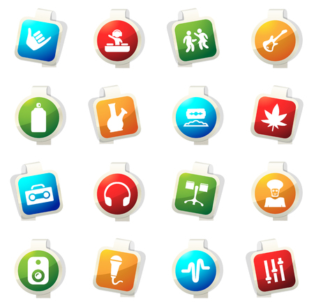 Reggae color icon for web sites and user interfaces