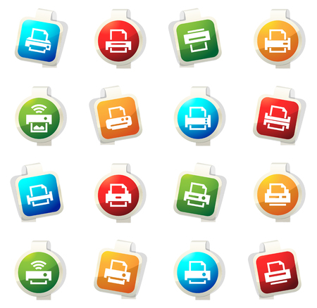 Print color icon for web sites and user interfaces