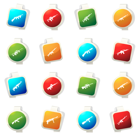 Hand weapons color icon for web sites and user interfaces
