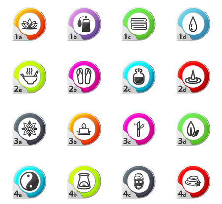papering: Spa web icons for user interface design Illustration