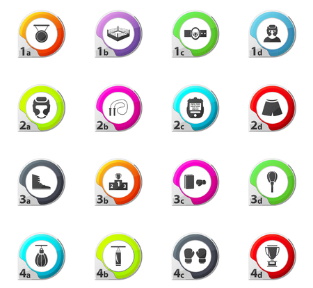 driving range: Boxing web icons for user interface design