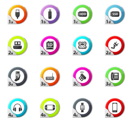 psp: Devices web icons for user interface design