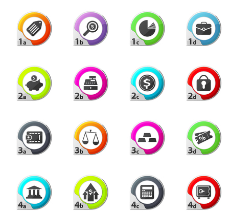 finance web icons for user interface design