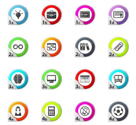 School web icons for user interface design
