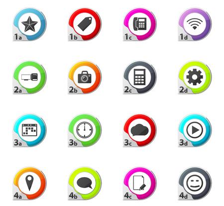Social Media web icons for user interface design Иллюстрация