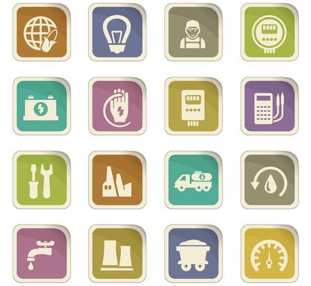llave de sol: Iconos de energía alternativa establecidos para los sitios web y la interfaz de usuario