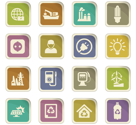 oil and gas industry: Alternative energy icons set for web sites and user interface