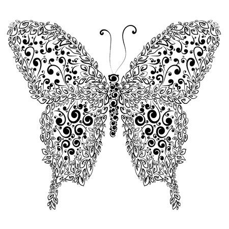 Decorative butterfly illustration.