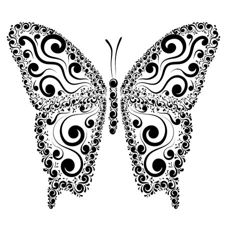 Vector illustration of a butterfly Illustration