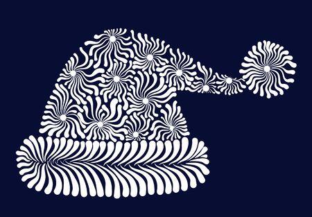 Santa Claus hat decorative stylized vector illustration