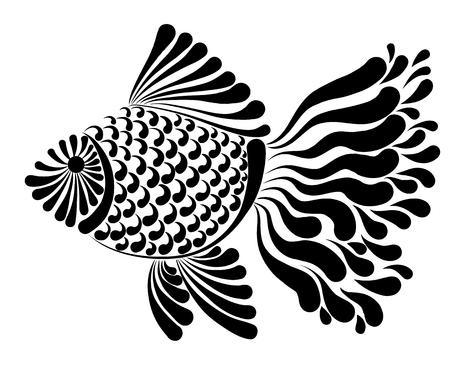 Decoratief beeld van een vis vectorillustratie