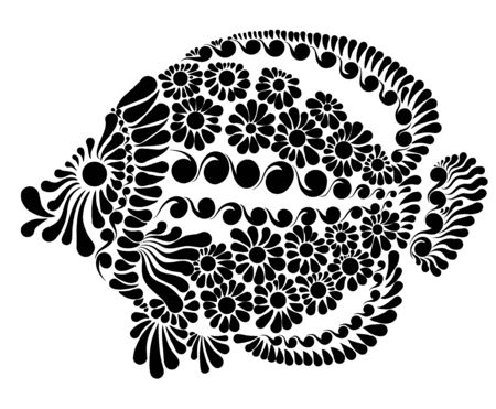 Decorative image of a fairy fish vector illustration.