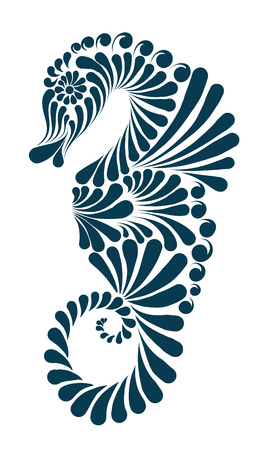 Sea horse decorative illustration, Graphic image