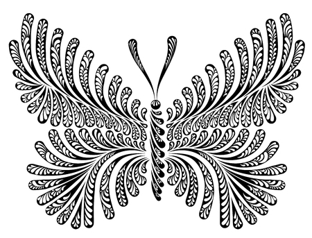 A Butterfly decorative vector illustration