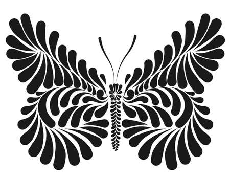 Butterfly decorative vector illustration
