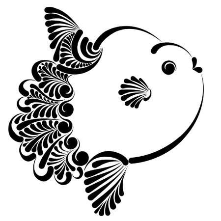 Ocean sunfish vector illustration