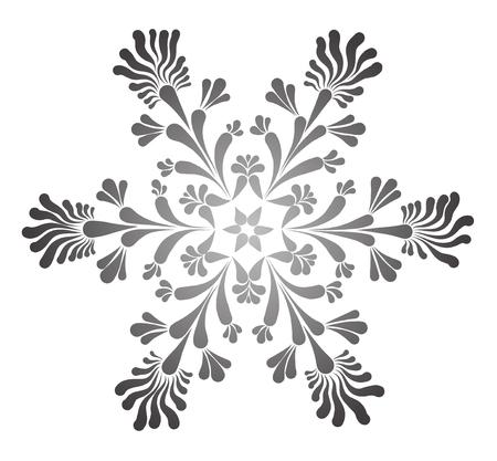 Beautiful snowflake on white background. Illustration