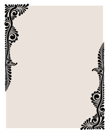 Decorative floral vector monogram