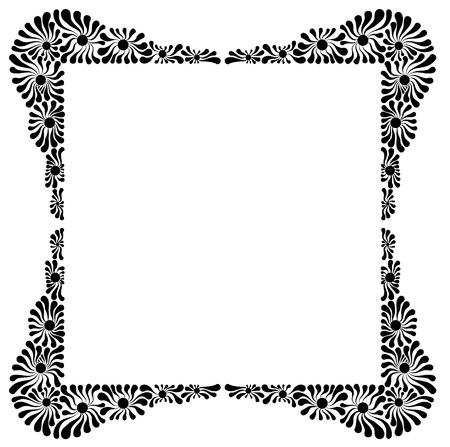 Decorative flower frame.