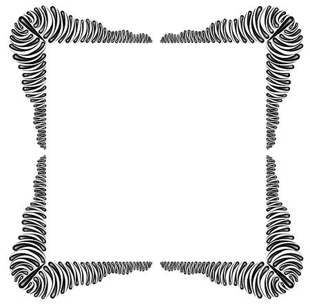 Decorative flower frame