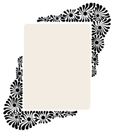 Vector decorative frame from flower patterns for decoration
