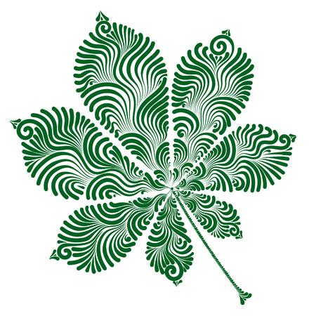 Decorative chestnut leaf.