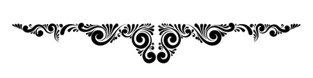 Decorative floral vector monogram.