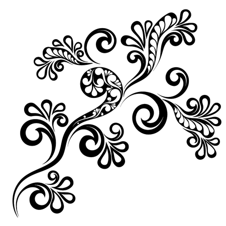 Decorative flower ornamentvector illustration on transparent background