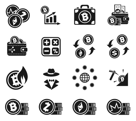 Cryptocurrency icon set