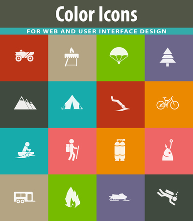 Active recreation icons for user interface design