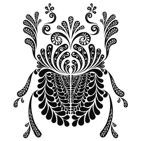 Heiliger Skarabäus dekorative Illustration