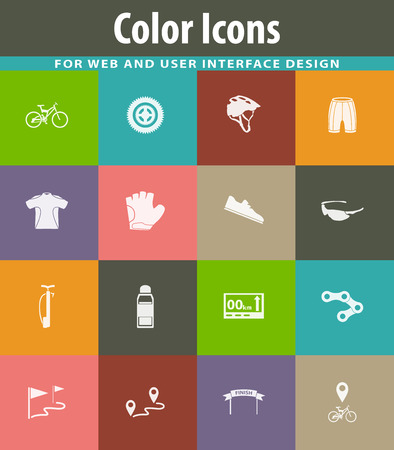Bicycle web icons for user interface design