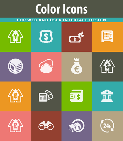 Business icons set Ilustração