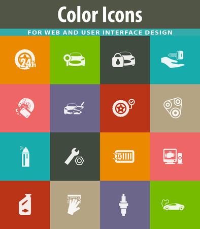 Car shop icon set for web sites and user interface Foto de archivo - 115116934