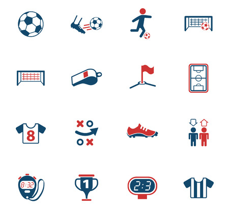 football vector icons for web and user interface design