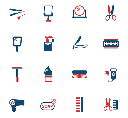 barbershop vector icons for web and user interface design Illustration