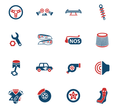auto tuning web icons for user interface design Stock Vector - 105062705