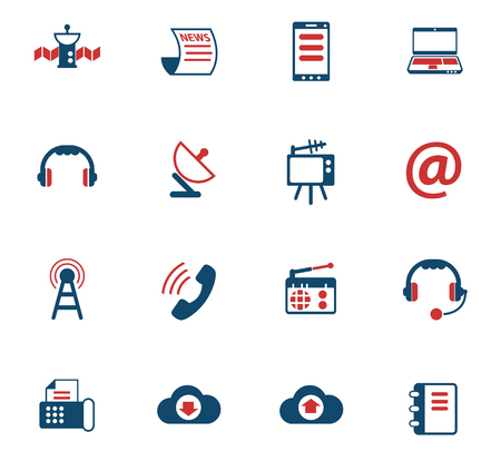 communication color vector icons for web and user interface design 矢量图像