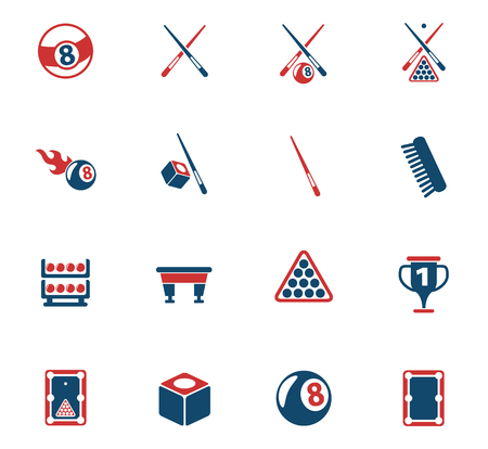 billiard color vector icons for web and user interface design