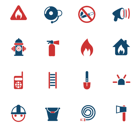 fire brigade vector icons for web and user interface design