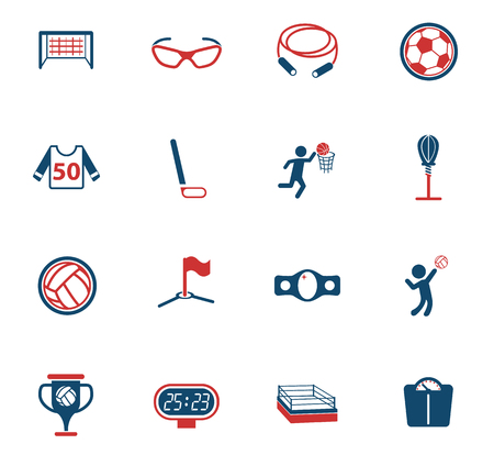 sport color vector icons for web and user interface design
