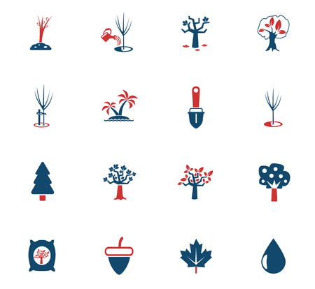 trees measuring tools web icons for user interface design