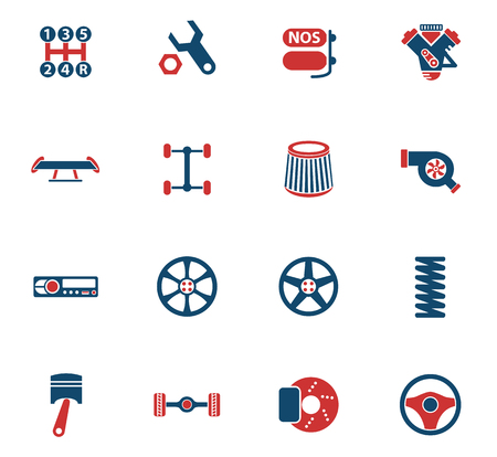 auto tuning vector icons for web and user interface design Stock Vector - 114797704