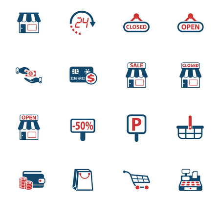 shop vector icons for web and user interface design Stockfoto - 114797711