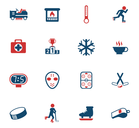 ice rink vector icons for web and user interface design